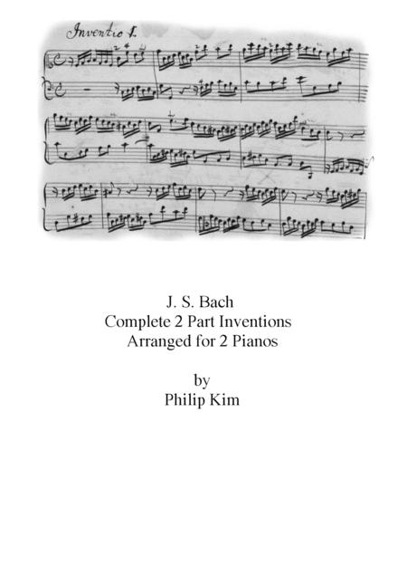 Js Bach 15 2 Part Inventions For 2 Pianos Complete