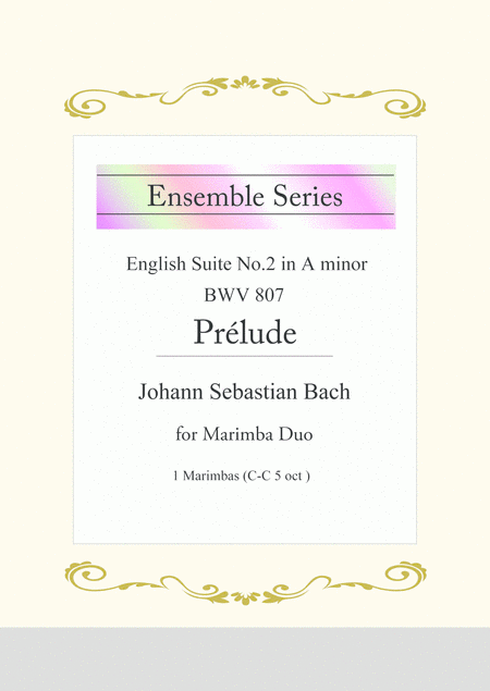 Js Bach Prelude From English Suite No 2 In A Minor Bwv 807