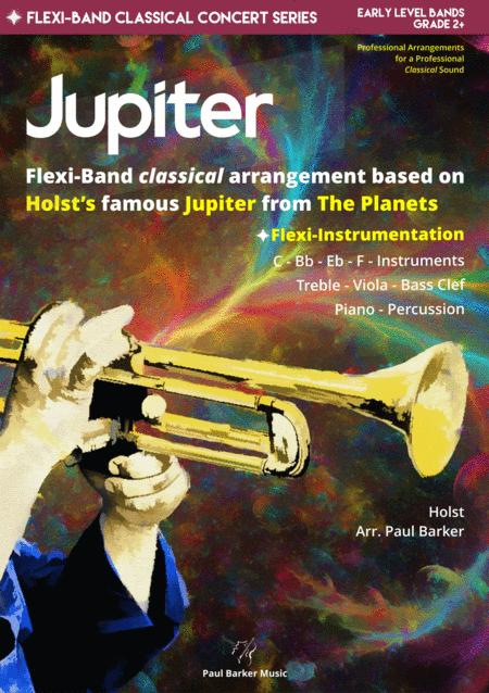 Jupiter The Planets Flexi Band Score Parts