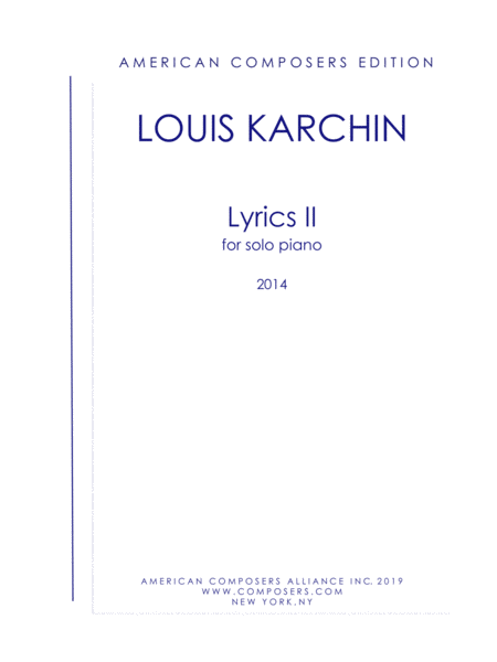 Karchin Lyrics Ii