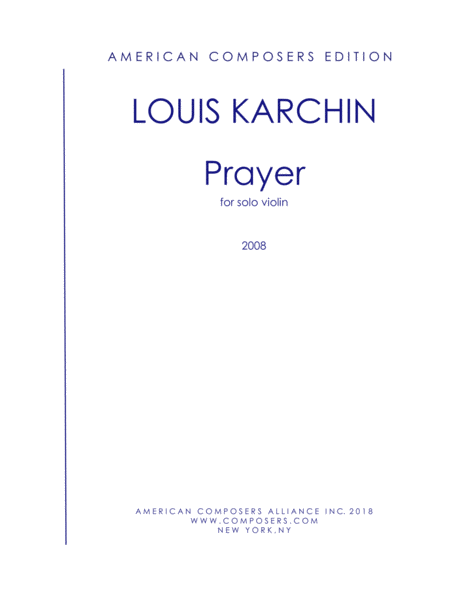 Karchin Prayer