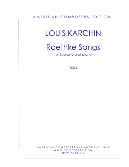 Karchin Roethke Songs