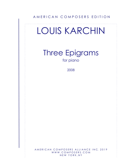 Karchin Three Epigrams
