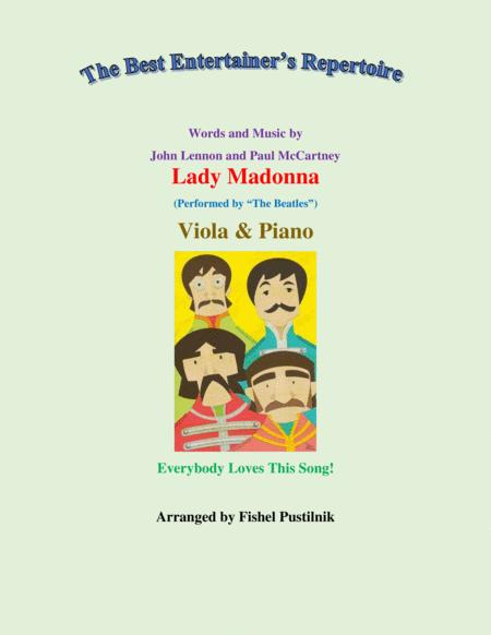 Lady Madonna Jazz Pop Version For Viola And Piano Video