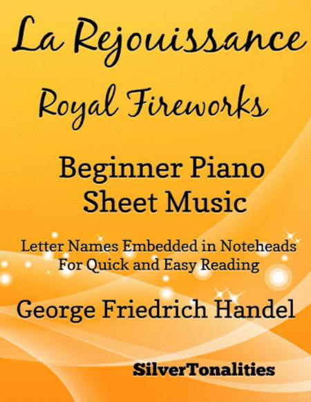 La Rejouissance Royal Fireworks Beginner Piano Sheet Music