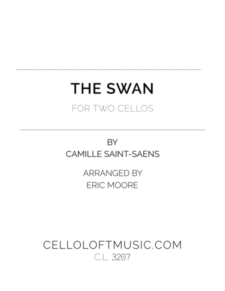 Le Cygne The Swan For Two Cellos