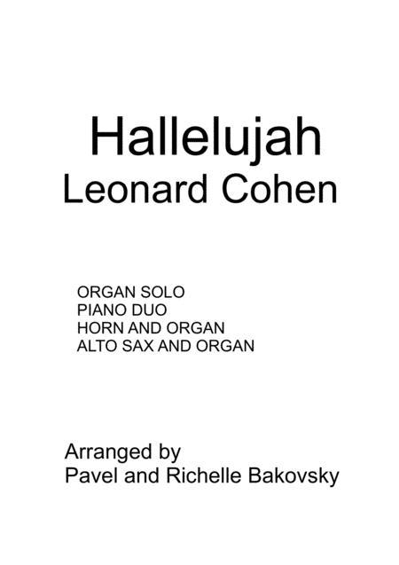 Leonard Cohen Hallelujah For Piano Duet And Solo Instruments