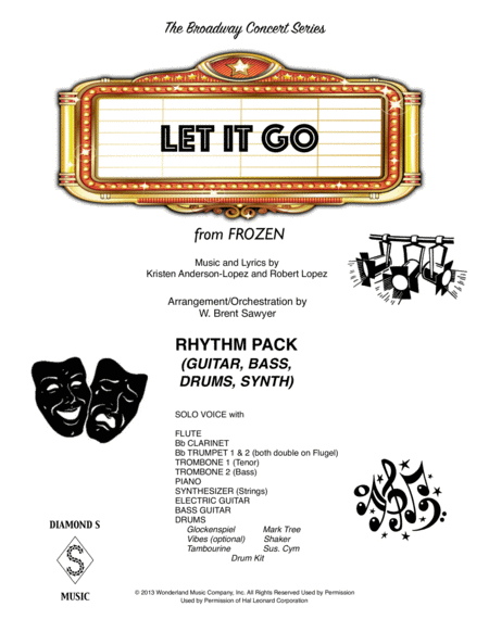 Let It Go From Frozen Rhythm Pack Guitar Bass Drums Synth