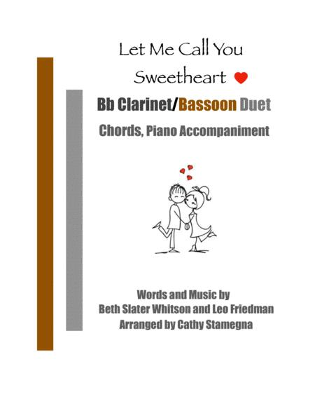 Let Me Call You Sweetheart Bb Clarinet Bassoon Duet Chords Piano Accompaniment