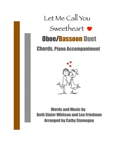 Let Me Call You Sweetheart Oboe Bassoon Duet Chords Piano Accompaniment
