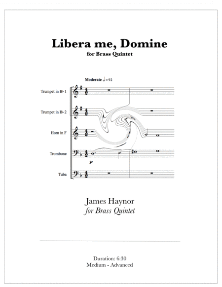 Libera Me Domine For Brass Quintet