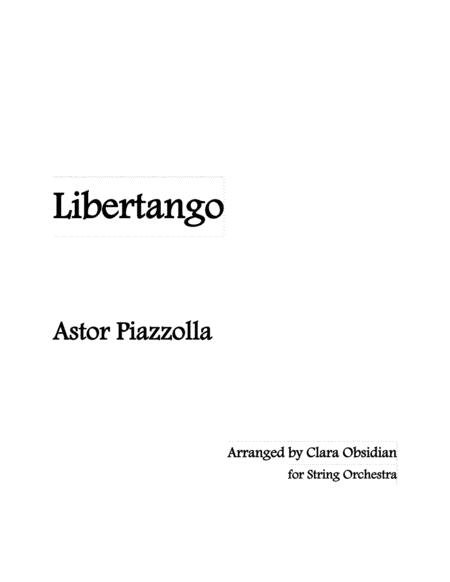 Libertango For String Orchestra Astor Piazzolla
