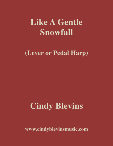 Like A Gentle Snowfall An Original Solo For Lever Or Pedal Harp From My Harp Book Hourglass