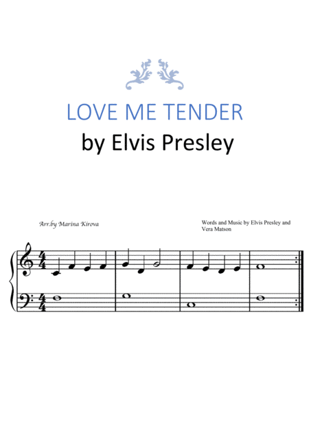 Love Me Tender Easy To Read Format