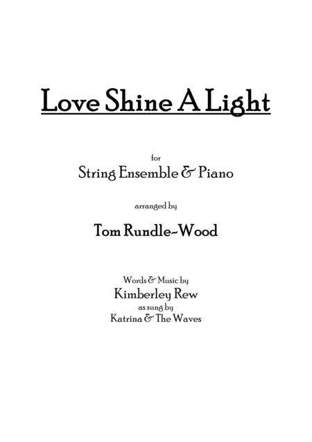 Love Shine A Light Strings Piano