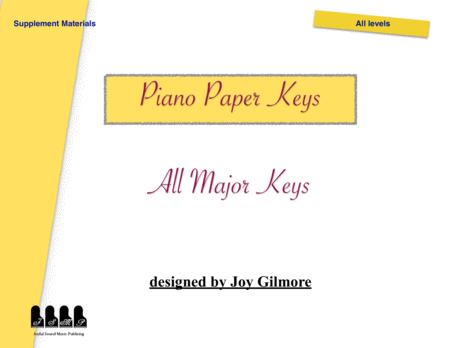 Major Scale Paper Keys Fits On The Keyboard And Piano For Beginners