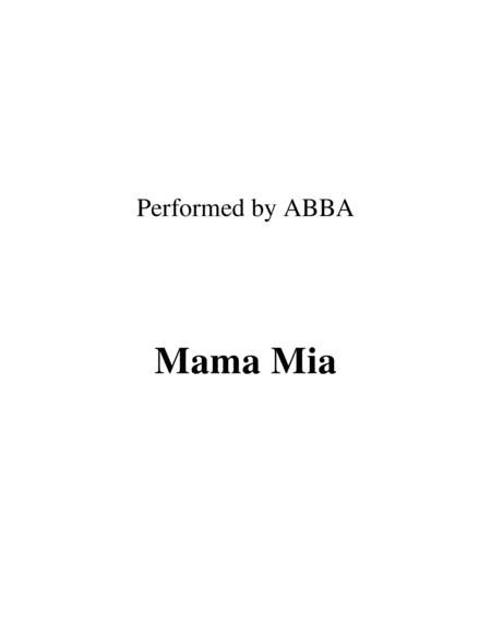 Mama Mia Lead Sheet Performed By Abba