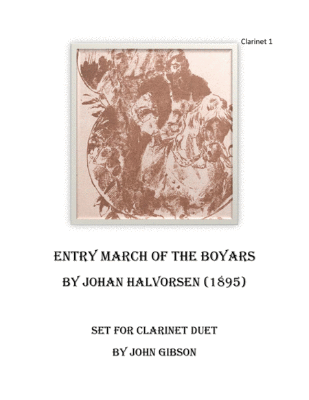 March Of The Boyars Clarinet Duet
