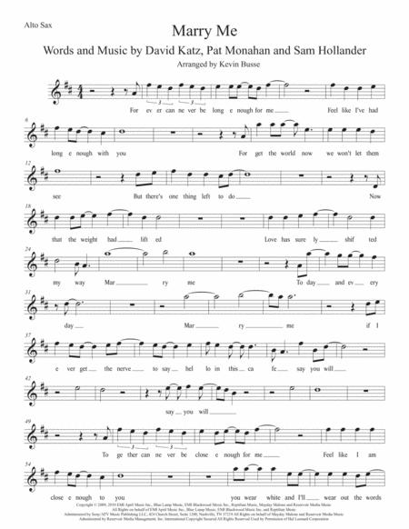marry you alto sax free music sheet - musicsheets.org  music sheet library for all instruments