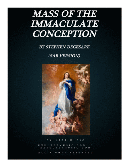 Mass Of The Immaculate Conception Score Sab Version