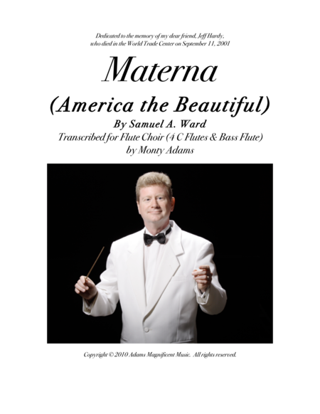 Materna America The Beautiful For Flute Choir