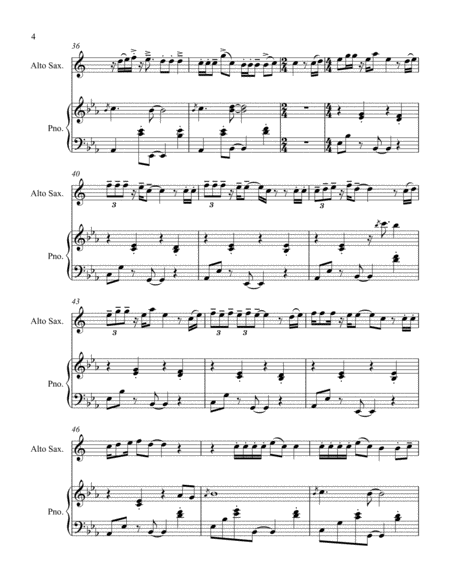 Memories By Maroon 5 Alto Sax Solo And Piano Accompaniment Free Music Sheet Musicsheets Org