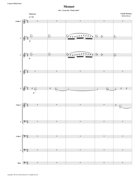 Menuet Mvt 3 From Debussys Petite Suite For String Orchestra