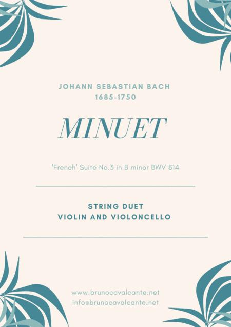 Minuet Bwv 814 Bach String Duet Violin And Cello