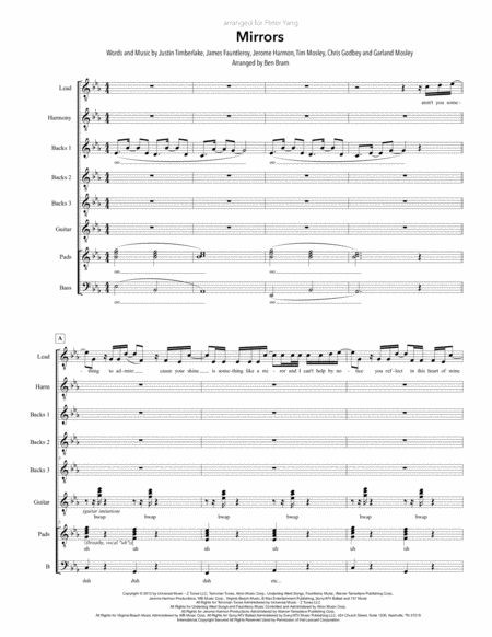 Mirrors Satb Version