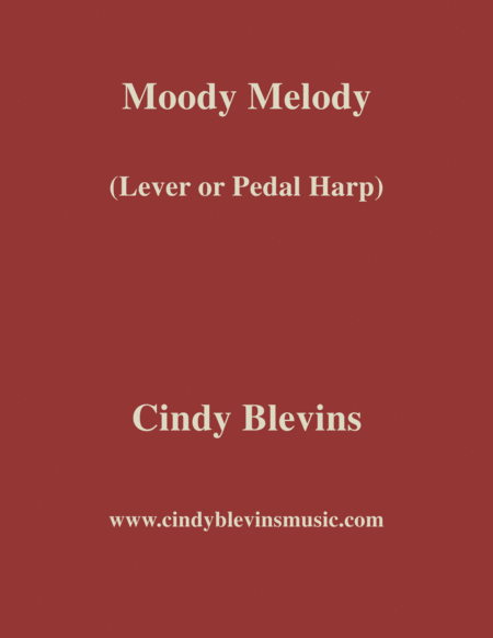 Moody Melody An Original Solo For Lever Or Pedal Harp From My Harp Book Hourglass