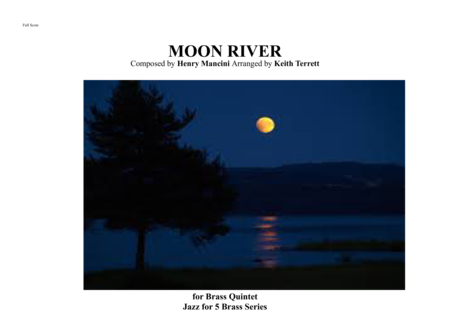 Moon River For Brass Quintet Drum Kit Opt Jazz For 5 Brass Series