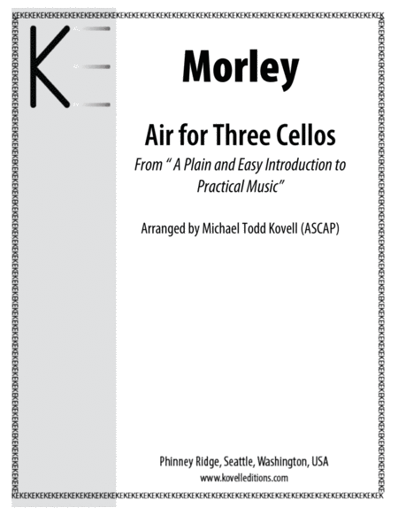 Morley Air For Three Cellos