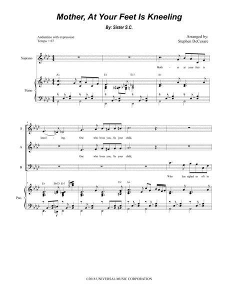 Mother At Your Feet Is Kneeling For Vocal Quartet Satb