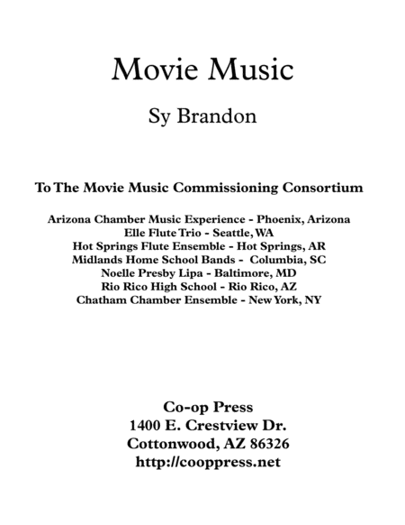 Movie Music For Mixed Trio Alto Clef Instruments Version