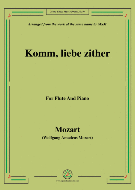 Mozart Komm Liebe Zither For Flute And Piano