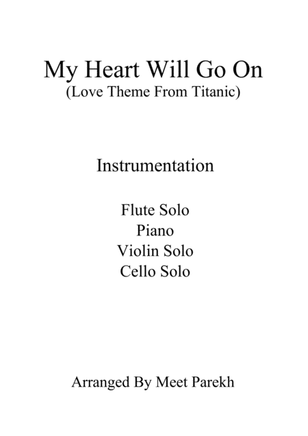 My Heart Will Go On Love Theme From Titanic For Chamber Orchestra