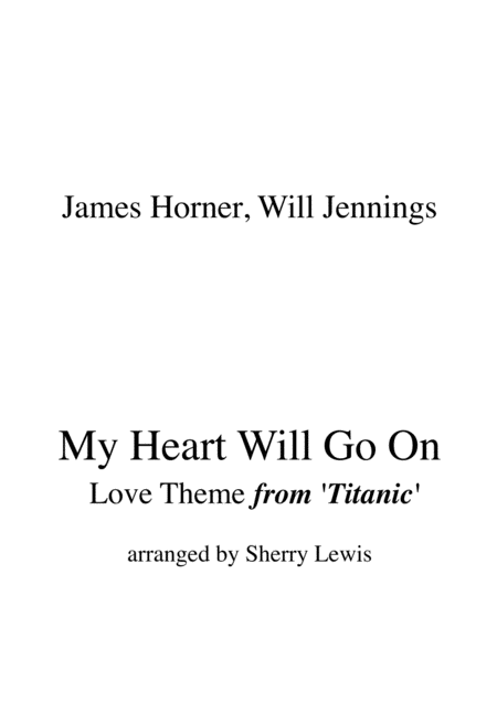 My Heart Will Go On Love Theme From Titanic String Trio For String Trio