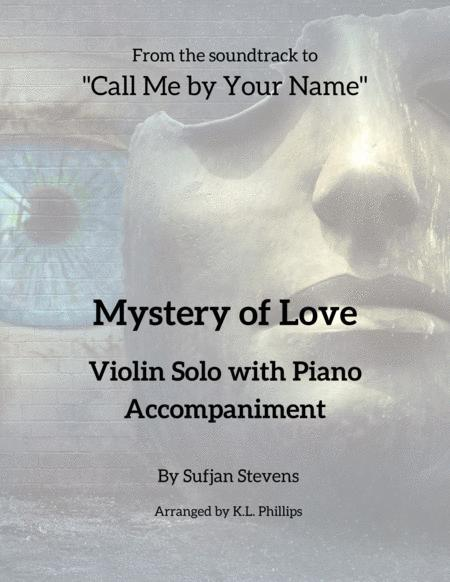 Mystery Of Love Violin Solo With Piano Accompaniment