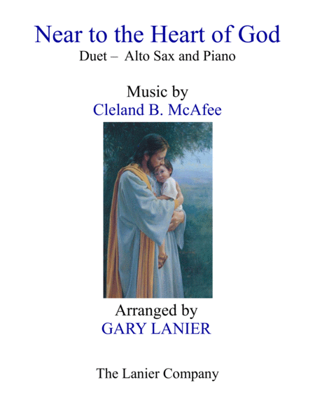 Near To The Heart Of God Duet Alto Sax Piano With Score Part