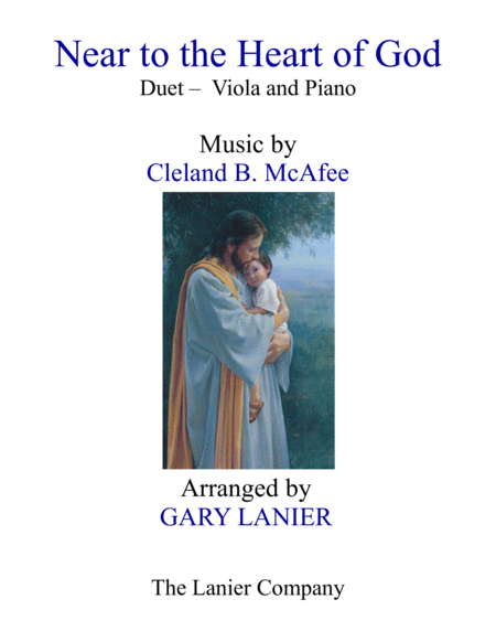 Near To The Heart Of God Duet Viola Piano With Score Part