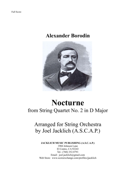 Nocturne From Borodins String Quartet No 2 Arranged For String Orchestra