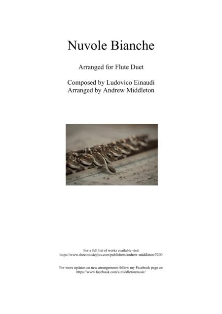 Nuvole Bianche Arranged For Flute Duet
