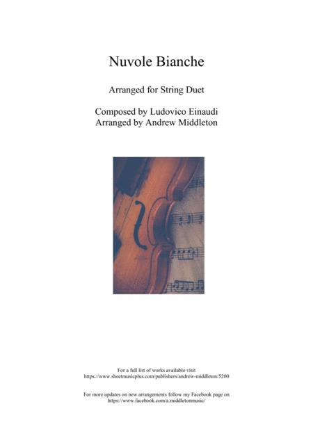Nuvole Bianche Arranged For String Duet