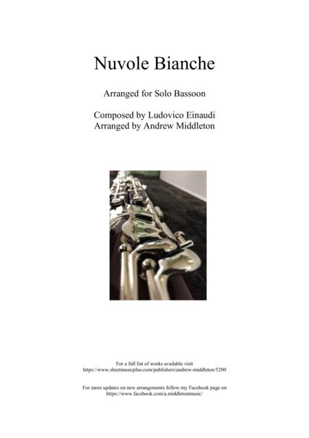 Nuvole Bianche Arranged For Unaccompanied Bassoon