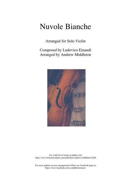 Nuvole Bianche Arranged For Unaccompanied Violin