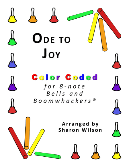 Ode To Joy For 8 Note Bells And Boomwhackers With Color Coded Notes