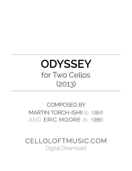 Odyssey For Two Cellos