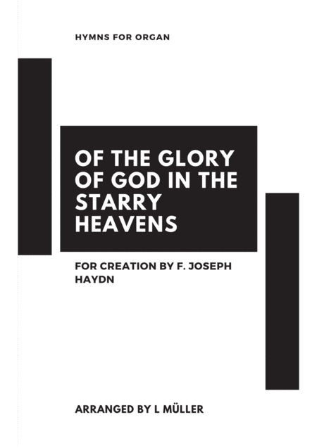 Of The Glory Of God In The Starry Heavens