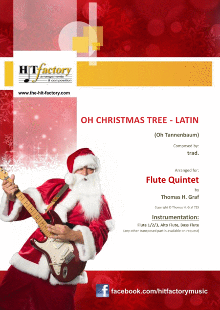 Oh Christmas Tree Latin Oh Tannenbaum Flute Quintet
