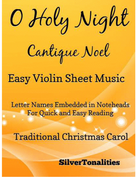 O Holy Night Cantique Noel Easy Violin Sheet Music